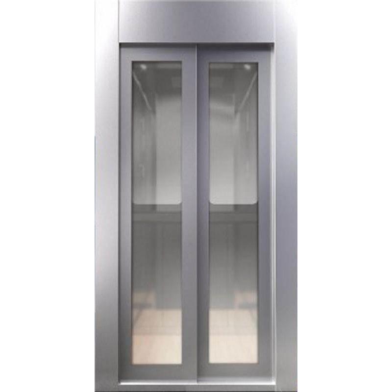 Αυτόματη πόρτα 2Φ. Τηλεσκοπικού Ανοίγματος Γυάλλινη